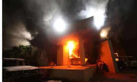 US consulate in Benghazi in flames