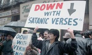 Salman Rushdie Satanic Verses protest