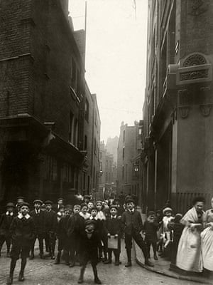 Spitalfields: Looking down Sandys Row from Artillery Lane