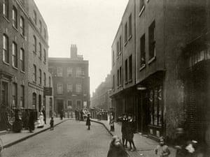 Spitalfields: In Spital Square, looking towards the main market
