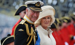 Prince Charles and Camilla, Duchess of Cornwall, at the Queen's diamond jubilee pageant