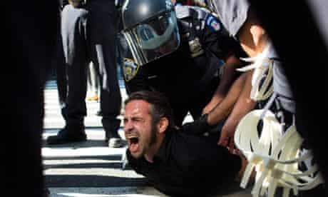 Occupy Wall Street anniversary marred by arrests and weakening support