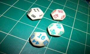 Go First dice - only to be used on Alex Bellos's science blog