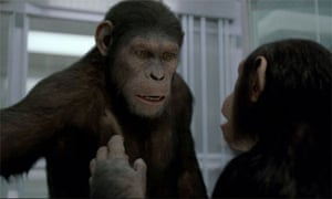 Film still, Rise of the Planet of the Apes