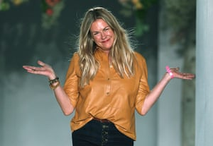 London Fashion day 5: Mulberry designer Emma Hill walks on the catwalk