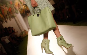 London Fashion day 5: A model presents a creation from the Mulberry