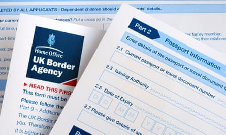 United Kingdom Border Agency visa application form
