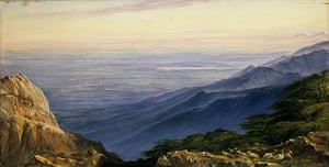 Edward Lear: The Plains of Lombardy from Monte Generoso by Edward Lear