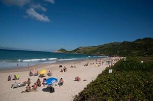 Brazil beaches: Brazil - Florianopolis - Mole beach