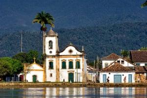 Brazil beaches: Brazil, Rio de Janeiro state, Paraty, Santa Rita church