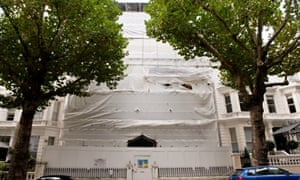 The Greek Consulate at Holland Park, London. Undergoing extensive renovation.