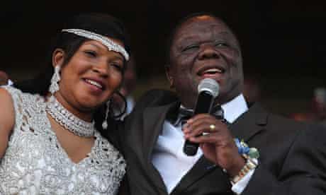 Zimbabwe Prime Minister Tsvangirai marries