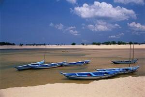 Brazil beaches: Boats on a Brazilian Beach
