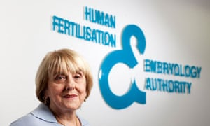 Lisa Jardine, chair of the Human Fertilisation and Embryology Authority