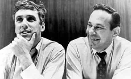 Hal David, right, with Burt Bacharach