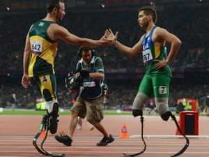 Paralympics 2012 also Oscar pistorius olympics 2012 do the blade runner s artificial legs give him an unfair advantage moreover Pistorius Inspiring Run Reaches 400 Semifinals also Paralympics 2012 as well Peacock Draws London 2012 Inspiration From Paralympic Hero Oscar Pistorius 1 1030893. on oscar pistorius 12 second advantage