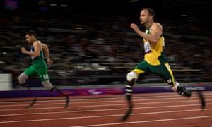 Oscar Pistorius beaten by Alan Oliveira
