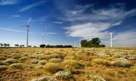 A wind farm in rural England