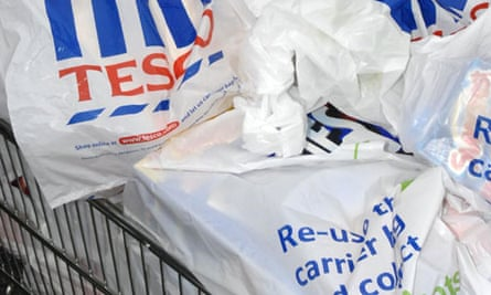 A 5p charge has reduced single-use carrier bags in Wales by 96%
