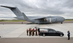 The repatriations of Private Thomas James Wroe of 3rd Battalion The Yorkshire Regiment at RAF Brize Norton, Oxfordshire. that Private Wroe along with Sergeant Gareth Thursby were killed in at Checkpoint Tora in the Nahr-e Saraj district of Helmand province, Afghanistan.