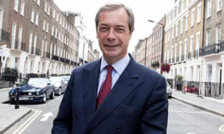Nigel Farage, the leader of Ukip, which recent polls show has about 10% of the national vote