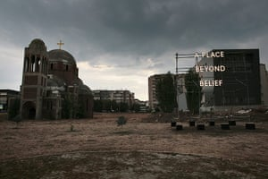 Kosovo art installation: A Place Beyond Belief by Nathan Coley