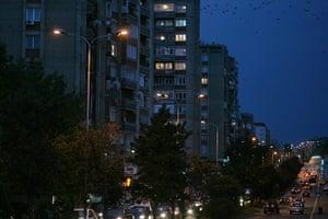 Kosovo art installation: Pristina at night