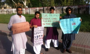 Peaceful protesters in Islamabad.
