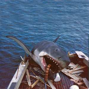 Jaws: The shark after smashing through Orca II's balsa wood transom