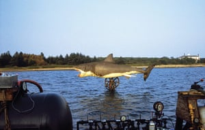 Jaws: The shark is lifted out of the water on 12 September 1974