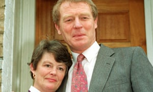 With wife Jane at the time of the Paddy Pantsdown scandal, 1992.