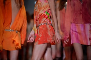 Milan Fashion Week: A model displays a creation as part of V