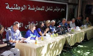 More than 20 Syrian opposition parties and groups met in Damascus on Sunday.