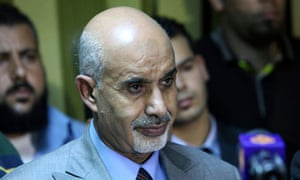 Libya's de facto head of state Muhammad Magariaf