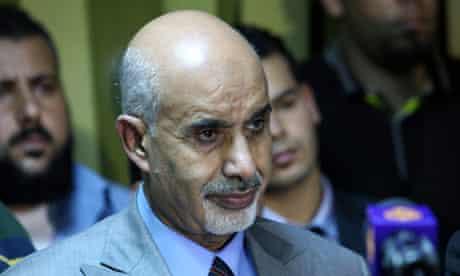 Libya's de facto head of state Muhammad Magariaf