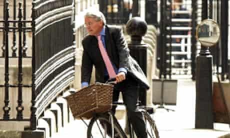 Andrew Mitchell on his bike
