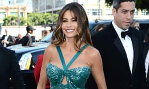Sofia Vergara arrives at the Emmys in what used to be known as turquoise.