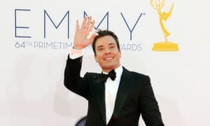Jimmy Fallon arrives at the Emmys.