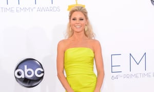 Julie Bowen arrives at the Emmys, where she won best supporting actress in a comedy series.