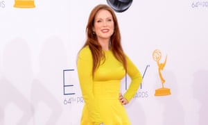 Julianne Moore arrives at the Emmy awards at Nokia Theatre in Los Angeles.