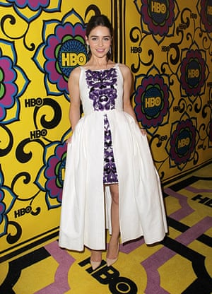 Emmy Awards: Actress Emilia Clark of Game of Thrones