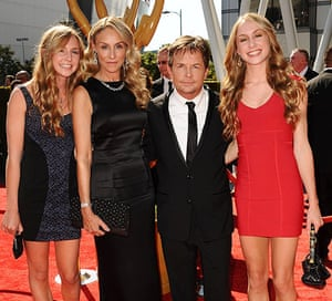 Emmy Awards: Michael J Fox, wife Tracy Pollan and  children