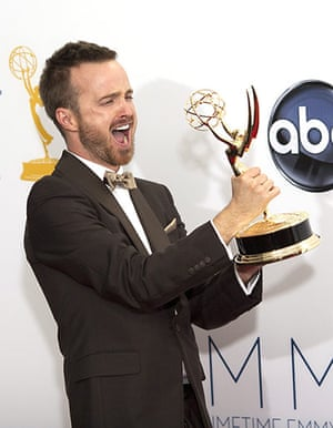 Emmy Awards: Actor Aaron Paul poses