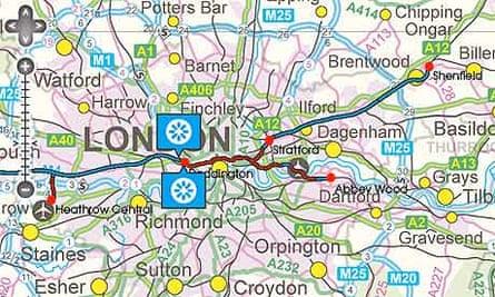 Crossrail boring map