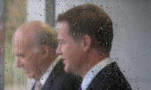 Clegg and Cable leave for Brighton after visiting the Ricardo engine assembly plant in Shoreham-by-Sea