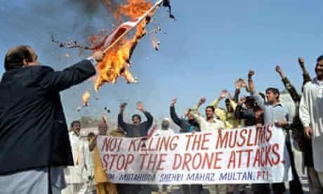 Pakistani anti-drone protesters