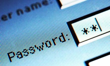 Password field on internet screen