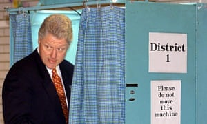 Bill Clinton voting