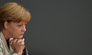 German Chancellor Angela Merkel attends a session of the Bundestag (lower house of parliament) on September 12, 2012 in Berlin.