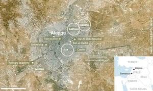 Aleppo locator map